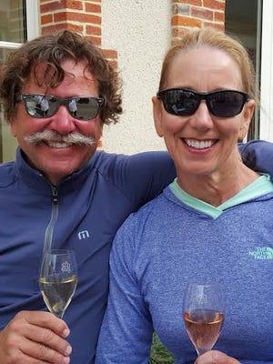 John C. Little Jr. and Lori K. Martin of Scottsdale bicycled 140 kilometers through Champagne, France.