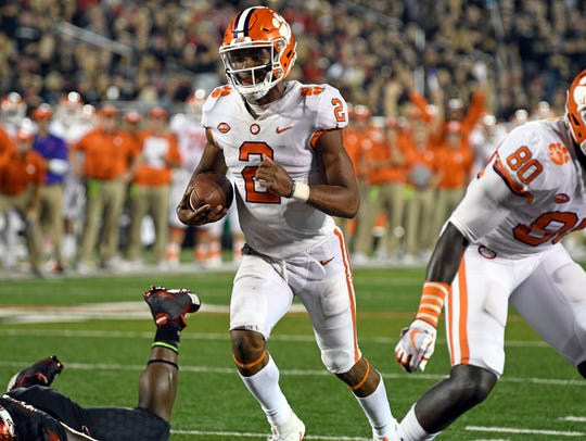 Clemson Tigers quarterback Kelly Bryant.