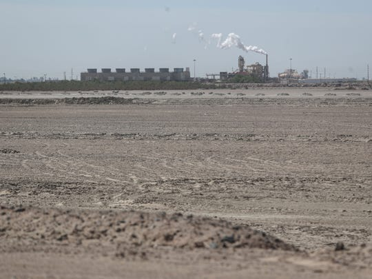 A geothermal power plant at the Salton Sea on Thursday, April 19, 2018.