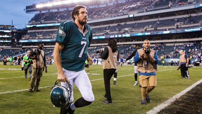 Eagles quarterback Sam Bradford, shown after the 23-20 win over Buffalo on Dec. 13, is eligible for free agency in March.