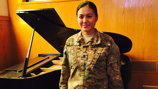 Spc. Anne Lee is a classically trained pianist who now serves in the 1st Armored Division Sustainment Brigade. She recently returned from a nine-month deployment to Afghanistan.