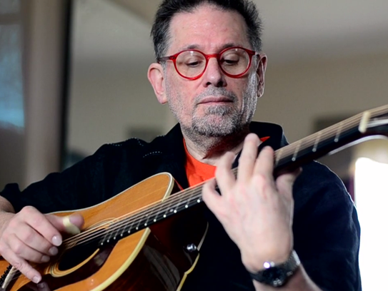 Glenn Jones, pictured here in a still from his music