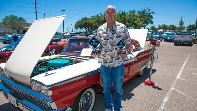 Valero employee Michael Humbach, Best Presentation and 1st Place in the Classic Car division, with his 1959 Ford Galaxie Fairlane 500.