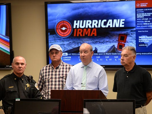 EOC meeting Hurricane Irma