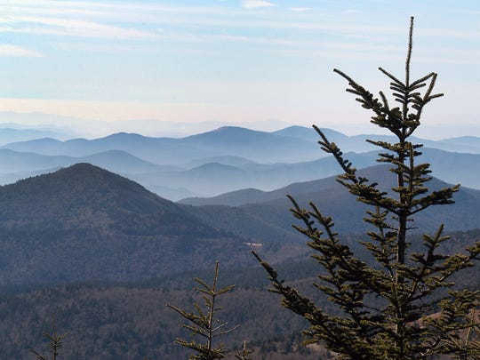 View from the top of Mount Mitchell. The state park  Mitchell State Park and west into Buncombe County. The state park north of Asheville is closed ahead of Hurricane Irma.