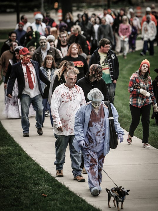 Downtown Lansing infested with zombies