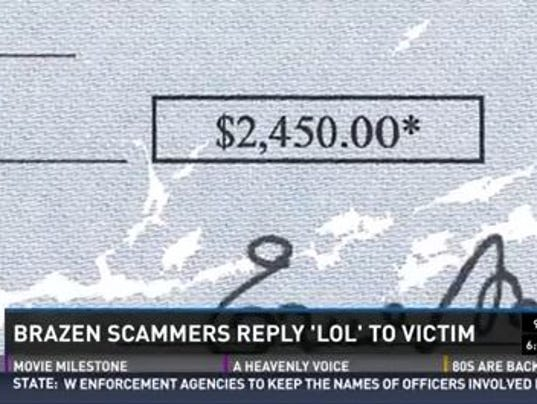 "Usaa Cashiers Check >> Internet fraudsters reply ""LOL"" to scam victim"