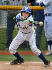 Webster Schroeder's Tommy Baxter tries to put down a bunt during a game last season. The Warriors went 19-2 a year ago.