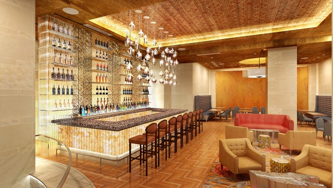 A lobby bar that will be part of Decker & Dyer   at The Westin Nashville.