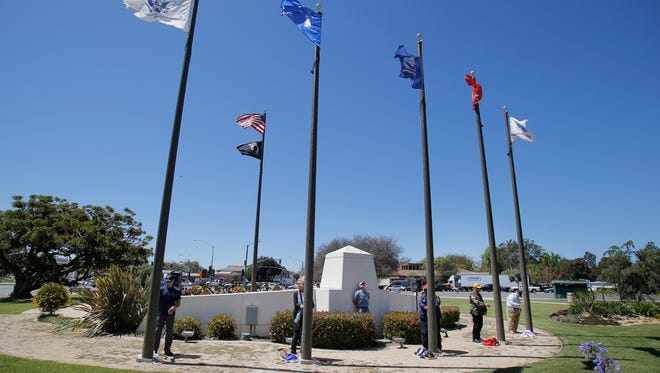 The Ventura County Government Center's Veterans Memorial was vandalized this week. STAR FILE PHOTO