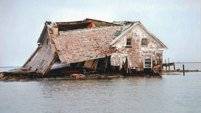 the last house on Holland Island slipped quietly beneath the waters of the Chesapeake Bay in 2010, a victim of rising waters and erosion.