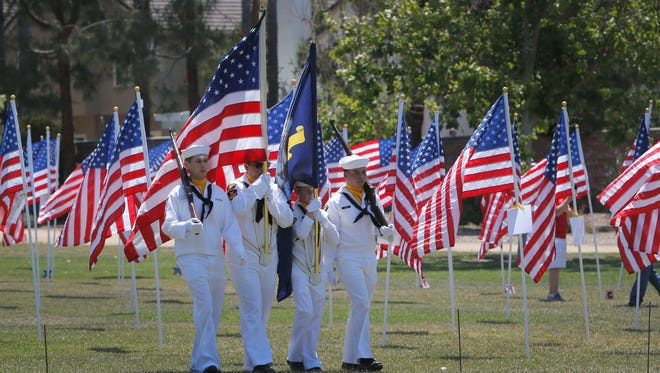 Ben Moreell Battalion U.S. Naval Sea Cadets, based in Port Hueneme, served as the color guard for the 2018 Moorpark Field of Valor Memorial Day ceremony.