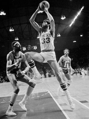 Lew Alcindor and the Milwaukee Bucks knocked off Wilt Chamberlain and the Los Angeles Lakers in the 1971 playoffs.