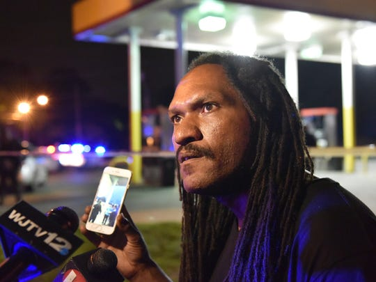 Express Fuel co-owner Desmond Brown talks about the shooting of a Jackson Police Department officer Sunday at the store at intersection of Bailey Avenue and Northside Drive in Jackson.