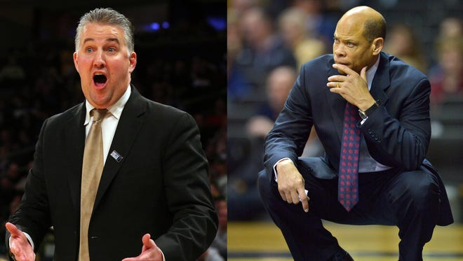 Muncie natives Matt Painter (Purdue), left, and Ray McCallum (Georgia State) both will be coaching in the NCAA Tournament.