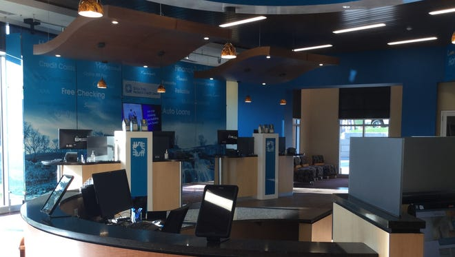 Inside the new Sioux Falls Federal Credit Union Branch located at 4701 S. Louise Ave. It is the credit union's sixth branch in Sioux Falls.