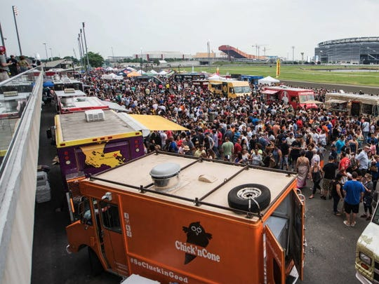 Fans pack the Meadowlands Racetrack for the 2016 JerseyFest featuring a Jersey vs. Philly Food Truck Mash-up on June 4.