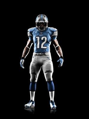 The Detroit Lions Nike Elite 51 uniform.