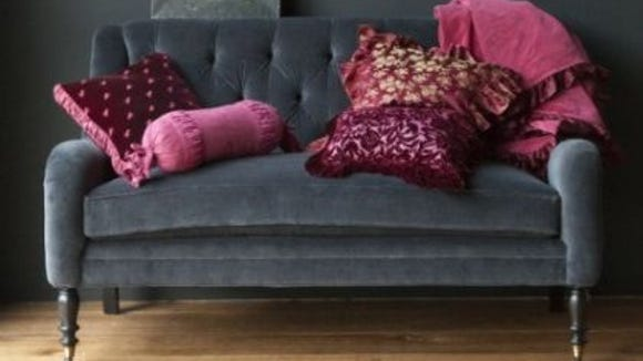 One of the easiest ways to bring Radiant orchid into your home is with new fabrics.