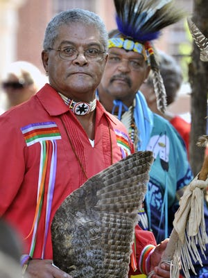 Lenape chief Dennis Coker. GARY EMEIGH/SPECIAL TO THE NEWS JOURNAL
