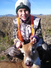 Jenna Rahn attended last year's youth hunt and got this whitetail deer.