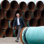 President Obama at the TransCanada Stillwater Pipe Yard in Cushing, Okla., last year.