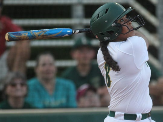 Lincoln center fielder Angelique Mann currently ranks first on the Trojans in seven offensive categories.