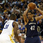 New Orleans Pelicans center Alexis Ajinca (42) has reportedly agreed to a four-year deal with the team.