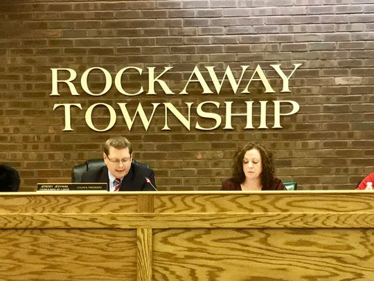 Rockaway Township Council on Jan. 11, 2018.
