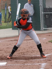 Gibsonburg's Marian Younker waits on a pitch against Old Fort.
