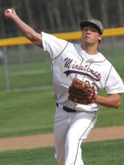 Lexington's Ben Vore pitches a home game against Ashland