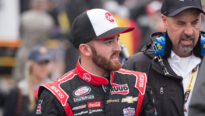 Austin Dillon advanced to the second round of the Chase for the Sprint Cup in his first try.