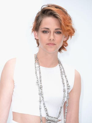 Kristen Stewart attends the Chanel show as part of Paris Fashion Week - Haute Couture Fall/Winter 2014-2015 at Grand Palais on July 8, 2014 in Paris, France.