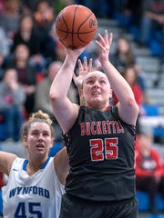 Buckeye Central's Courtney Pifher leads the area in rebounding with 10.1 rebounds per game.