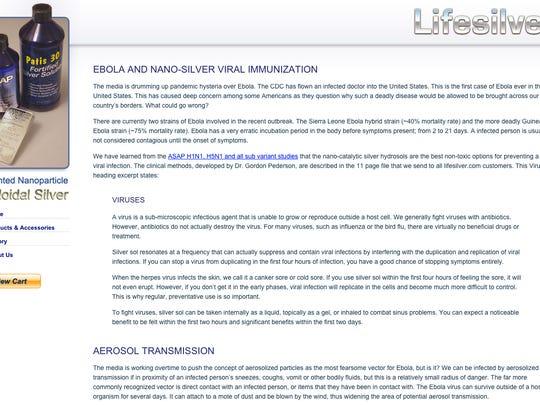 http://lifesilver.com/ebola.htm