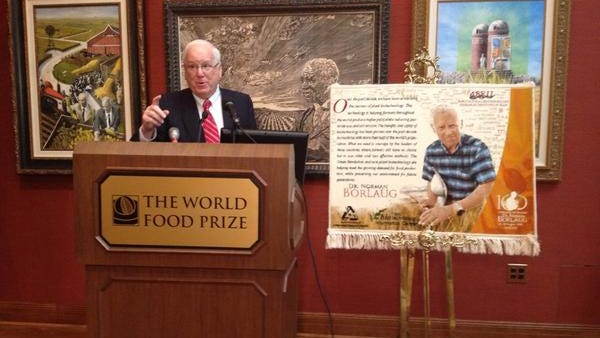 World Food Prize President Ken Quinn says a recent visit to Iran highlighted the legacy of Norman Borlaug, an Iowa native and ag scientist credited with saving a billion lives.