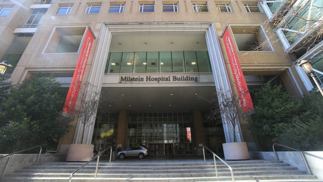 A view of Milstein Hospital Building at New York Presbyterian in Manhattan.