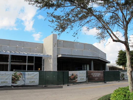 True Food Kitchen, set to open March 7, is under construction