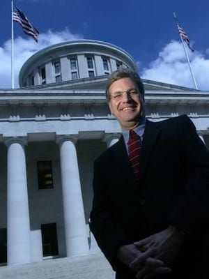 George Glover, a lobbyist from Cincinnati, stands outside the Statehouse Wednesday, July 11, 2007, in Columbus, Ohio. (Jay LaPrete/For the Enquirer)