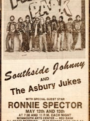 An ad from the Asbury Park Press publicizes the shows