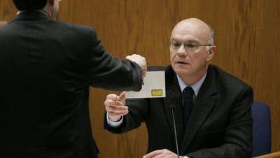 James Lenk testifies during the 2007 murder trial of Steven Avery.