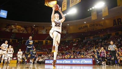 ASU senior center Quinn Dornstauder has two double-doubles in the last three games and is one rebound shy of three straight.