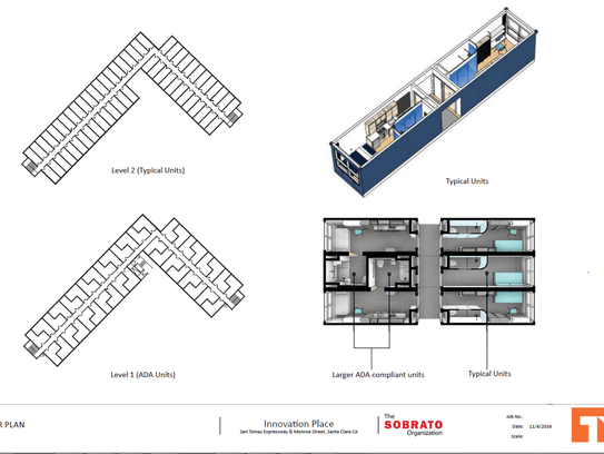 Sketch of shipping container complex for affordable