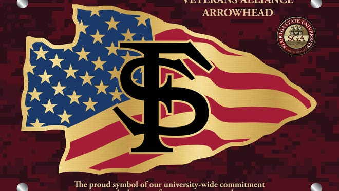 The Veterans Alliance Arrowheard plaque will be placed in Strozier Library