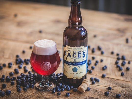 Ten Paces is a huckleberry wild ale released by Odell Brewing.