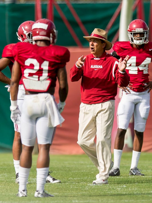 Alabama Football Spring Practice Day 3