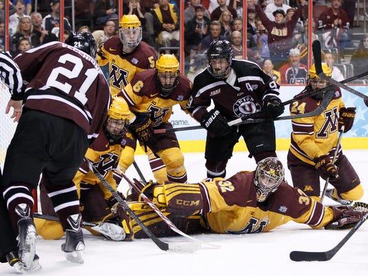 NCAA hockey 2014 Union beats Minnesota