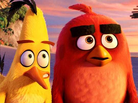 Chuck (Josh Gad) and Red (Jason Sudeikis) in 'Angry Birds.'