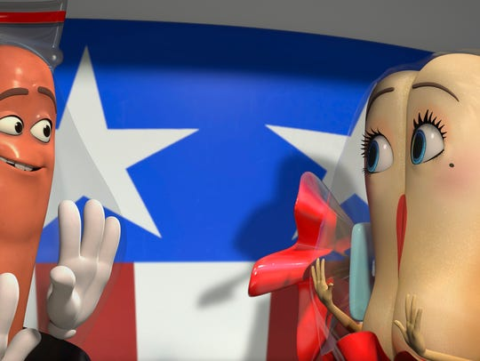 Hot dog Frank (voiced by Seth Rogen) and bun Brenda