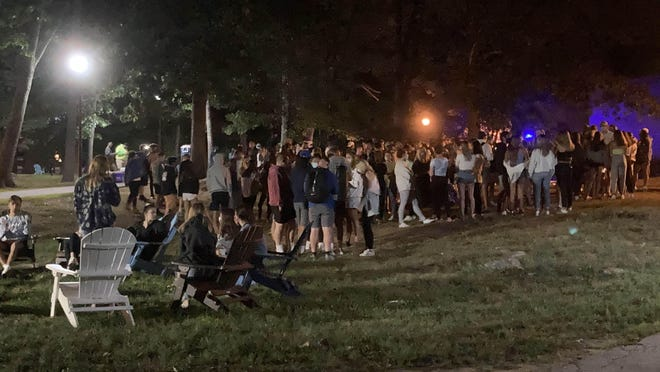 "A group of roughly 100 University of New Hampshire students gathered without social distancing for ""less than 30 minutes"" Wednesday evening during a university-sanctioned freshmen welcoming event, according to university officials. Officials say the event will prompt changes to how UNH will facilitate some of its campus activities because the crowd should've been limited to 25 students at a time."